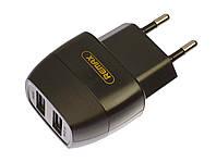 Сетевое зарядное устройство Remax RP-U29, 2.1 A, 2 USB, black (черный)