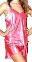 Шелковый комплект, пижама атлас: маечка на бретелях и шортики на резинке. Размеры, цвета разные.