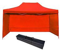 Торговая Палатка, для Сада, для Выставки 3х6 Красная Полиэстер 3 стенки