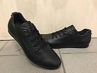 Мужские кожаные мокасы Cayman GS чёрные