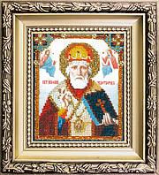 Набор для вышивания ювелирным бисером БЮ-008 Икона святителя Николая Чудотворца