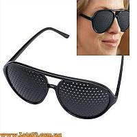 Перфорационные очки с дырочками для тренировки зрения (дизайн как у Ray-Ban Aviator)