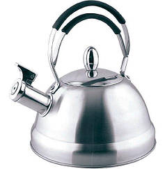 """Чайник """"Bristol"""" 2.3л с индукционным дном из нержавеющей стали со свистком Fissman"""