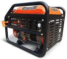 ⭐ Бензиновый генератор (2,2 кВт) Daewoo GDA 2300 (230 В,  7 л. с., 208 куб. см, 2×16 А)