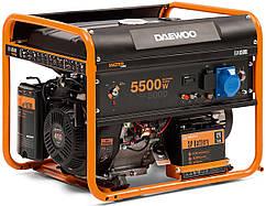 Бензиновый генератор (5,5 кВт) Daewoo GDA 6500E (220 В, количество фаз 1, мощность двигателя 13 л. с., 390 куб. см, розетки 1×16 А/1×32 А, тип