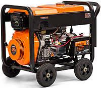 Дизельный трехфазный генератор (7 кВт) Daewoo DDAE 9000DXE-3 (двухрежимній 380/220 В, количество фаз 3, мощность двигателя 15 л. с., 477 куб. см,