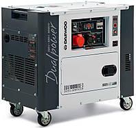 Дизельный трехфазный генератор (8 кВт) Daewoo DDAE 10000DSE-3 (двухрежимній 380/220 В, количество фаз 3, мощность двигателя 16 л. с., 498 куб. см,