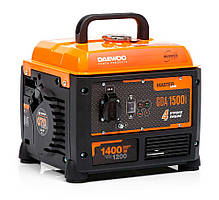 Бензиновый инверторный генератор (1,4 кВт) Daewoo GDA 1500i (220 В, количество фаз 1, мощность двигателя 3 л. с., 70 куб. см, 4-тактный,  розетки1×220