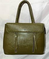 Женская сумка ''premium'' 25*33x14 см хаки