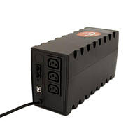 ИБП (UPS) PowerCom RPT-600AP Black, 600VA