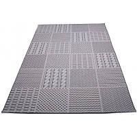 Кофейный безворсовый коврик 200*290 см.