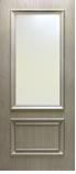 Двери межкомнатные экошпон Флоренция 1.1 стекло сатин, глянцевое с одной стороны