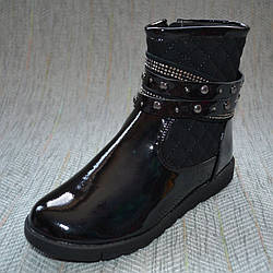 Демисезонные ботинки на девочку, Солнце размер 35