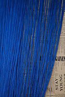 Тюль из ниток. Размер 300*300. Цвет - синий.