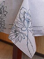 Изысканная салфетка с цветками на стол 85*85 см