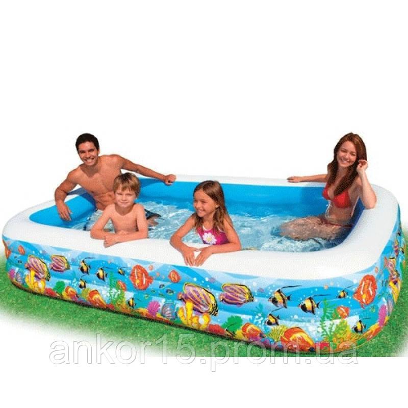 Детский надувной бассейн Intex 58485 «Тропический риф», 305 х 183 х 22 см