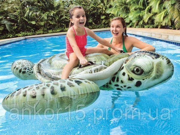 Плотик надувной Морская черепаха Intex 57555. 191х170см