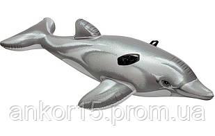 Пліт надувний дельфін INTEX 58535, 175-66 см