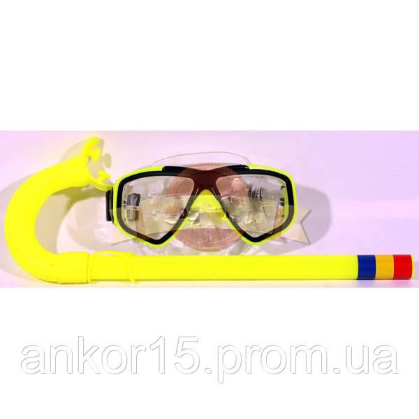Набор для плавания маска, трубка, M 0019