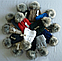 Шапка вязаная на флисе женская м 7055, разные цвета, фото 5