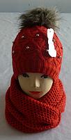 Комплект шапка и шарф хомут м 7061, разные цвета