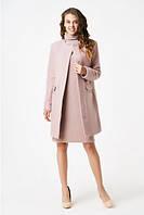 Розовое классическое пальто прямого силуэта RicaMare