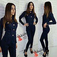 Женский джинсовый комбинезон у-20KO480