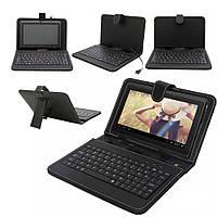 Чехол + KEYBOARD 8 micro, чехол клавиатура 8 дюймов USB Black, чехол на планшет, чехол с клавиатурой