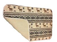 Одеяло из овечьей шерсти детское, олени