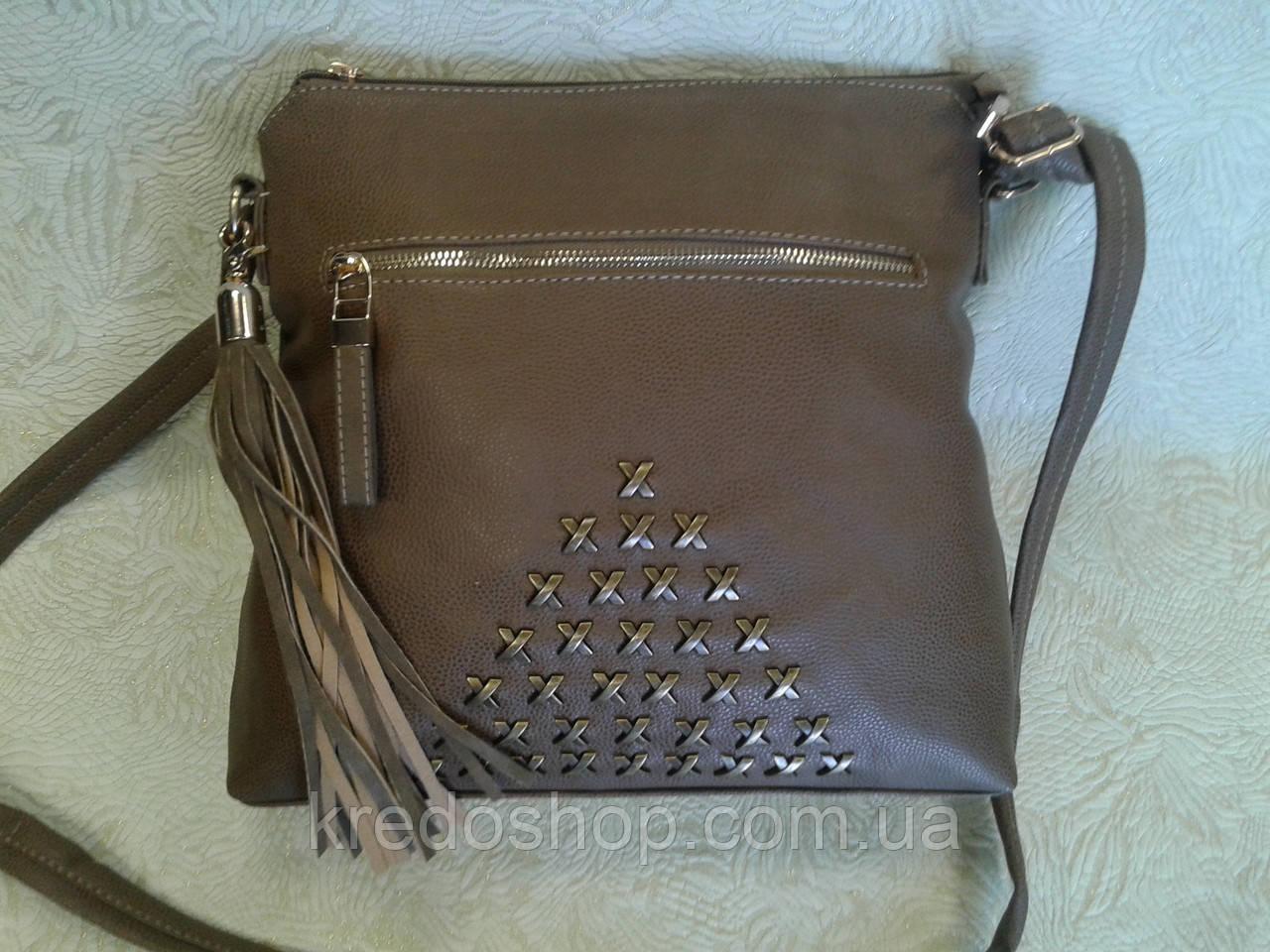 5b4f1eada27c Сумка клатч серо-коричневый стильный молодежный (Турция) - Интернет-магазин  сумок и