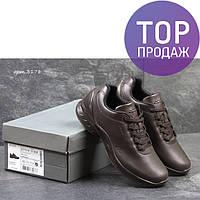 Мужские кроссовки Ecco Biom, темно коричневые / кроссовки мужские Экко Биом, кожаные, стильные