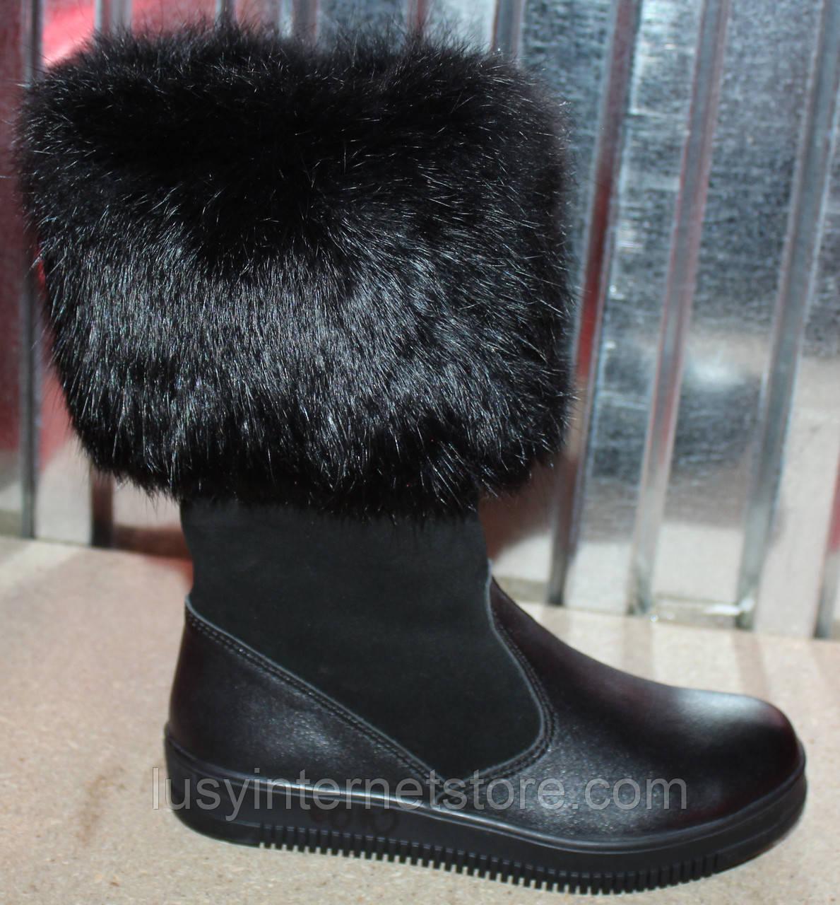969e32202 Детские сапоги высокие замшевые зимние, замшевая детская обувь зимняя от  производителя модель ДЖ6010-2