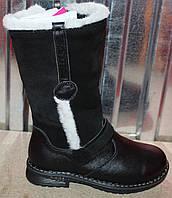 Высокие детские сапоги замшевые зимние, замшевая детская обувь зимняя от производителя модель ДЖ3908-2