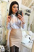 Женская кожаная юбка н-27JU181