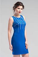 Интересное платье на каждый день цвета электрик