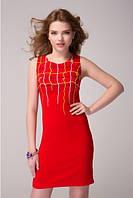 Красное интересное платье на каждый день