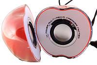 Компьютерные колонки в виде яблока AU-G005B USB 2.0, портативные колонки яблоко, музыкальные колонки для пк