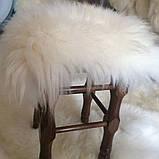 Накидка на табурет из овечьей шкуры, белая, фото 2