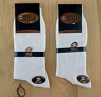 Мужские носки высококачественный хлопок двойные пятка и носок STYLE  42-44р белые НМП-111