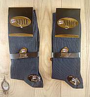 Мужские носки высококачественный хлопок двойные пятка и носок STYLE  42-44р тёмно серые НМП-112