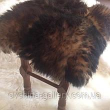 Накидка на табурет з овчини, коричнева