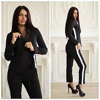 Женский  черный пиджак на запах
