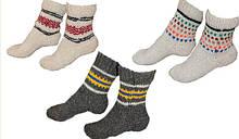 В'язані шерстяні шкарпетки