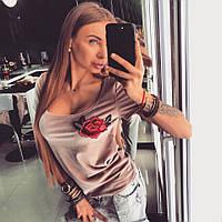 Модная женская футболка у-18FU382