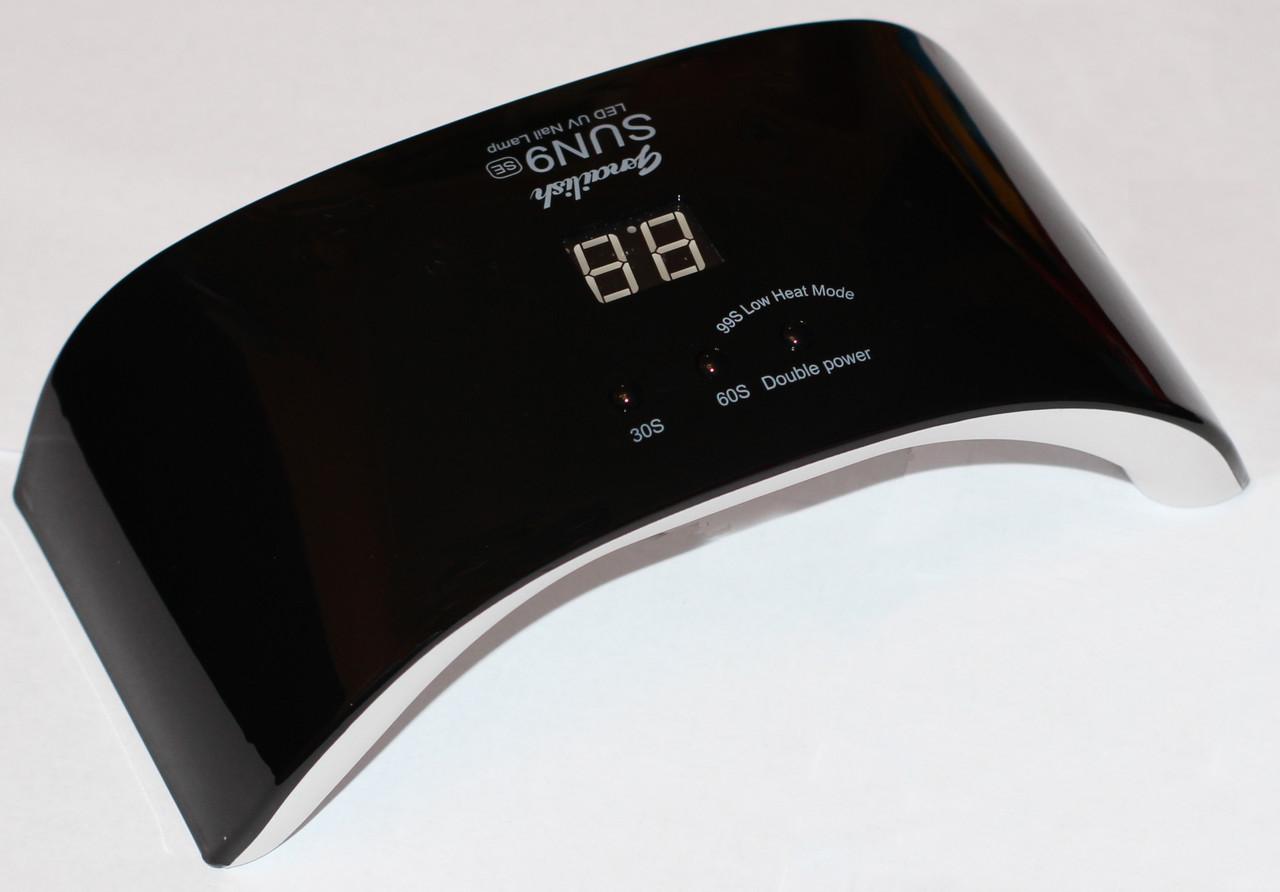 Лампа для маникюра SUN 9SE, 24W Black. Гибридная (UV+LED).