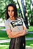 Модная женская футболка е-61FU407