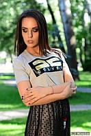 Модная женская футболка е-61FU407, фото 1