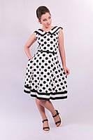 Платье с расклешенной юбкой Кармен