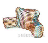 Подушка Ergo Lounge комбинированная коричневый шарпей с горохами