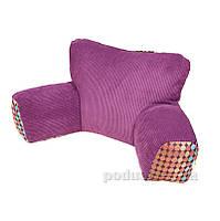 Подушка Ergo Lounge mini комбинированная фиолетовая с ярким горохом